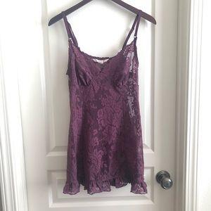 Victoria's Secret purple lace nightie slip dress